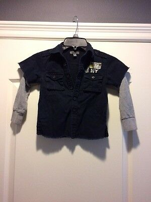 DKNY Long Sleeve Shirt for Toddler Size 4T  EUC! Very Stylish!   [A32]