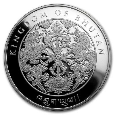 2018 Kingdom of Bhutan 200 Ngultrum Lunar Dog 1 oz .999 Silver Coin