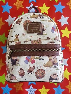 Disney Pixar Up Loungefly Backpack Carl Russel Dug Kevin Balloons Adventure #1