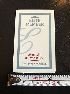 Marriott Rewards Elite Member Hotel Room Key Card