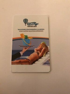Family Emotion Hotel Room Key Card From Mexico