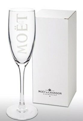 1 X Boxed  Moet Chandon Champagne Glass Flute New