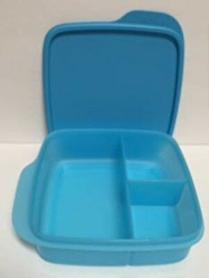 TUPPERWARE Lunch-It Divided SQUARE Blue NIP Free US Shipping BPA FREE