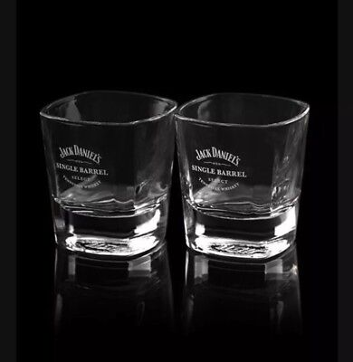 Jack Daniels Single Barrel Tumbler Glass X 2 New