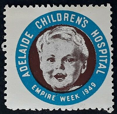 1949- Australia ADELAIDE CHILDREN'S HOSPITAL Empire Week Cinderella Mint