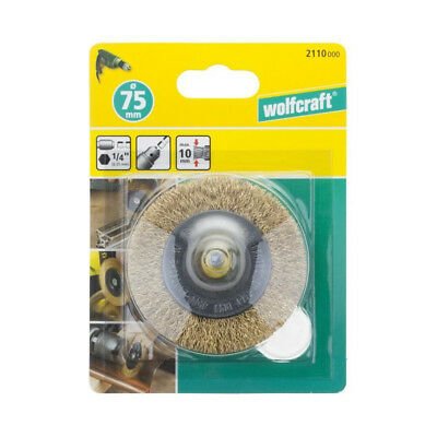 WOLFCRAFT 1 Brosse laiton circulaire HEX Ø75x10mm