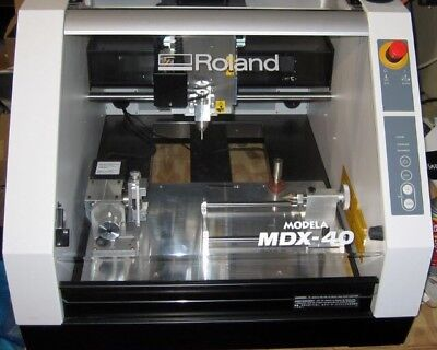 Roland MDX-40 desktop 4 Axis CNC Milling Machine With Upgraded 10 Inch 4th Axis