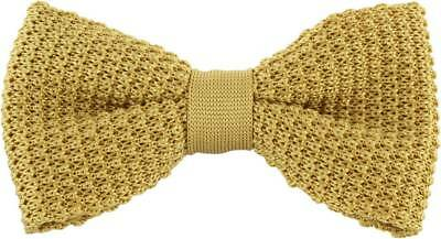 Michelsons of London Silk Knitted Bow Tie - Yellow