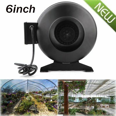 "6"" Inch Inline Duct Exhaust Fan High-Speed Air Blower Hydroponics Cooling Vent Y"