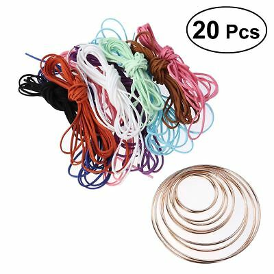 20 Pcs Smooth Metal Hoops Macrame Ring for Crafts Wreaths Projects Dream Catcher