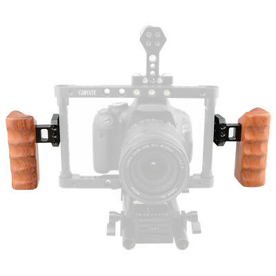 One Pair CAMVATE Wooden Handle Grips left & right for DV video DSLR Camera cage