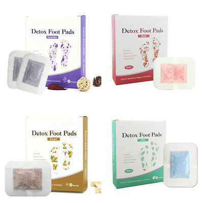 10x Detox Foot Pads Detoxification Cleansing Patches Weight Loss Stress Relief