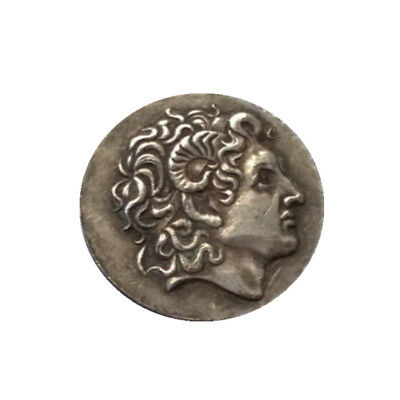 1pc Ancient Alexander III The Great Greek Coin 336-323 BC Silver Plated Drachm