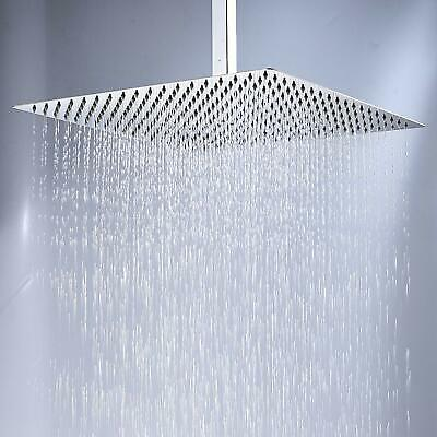 20 inch Rainfall Square Large Shower Head Ultra thin Chrome Ceiling Mount Top