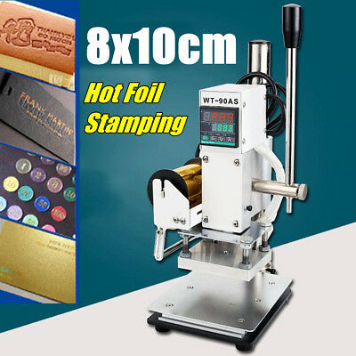 Hot Foil Stamping Leather Embossing Machine Manual PU Bronzing Printing 8x10CM