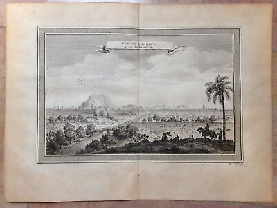 China Nanking 1750 By Nieuhoff & Bellin Antique Copper Engraved View