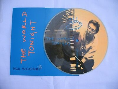 "PAUL McCARTNEY  "" THE WORLD TONIGHT ""  rare Picture Single - Made in U.K."