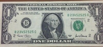 one dollar note