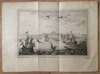 India Surate State Of Gujarat 1750 Nicolas Bellin Antique Copper Engraved View