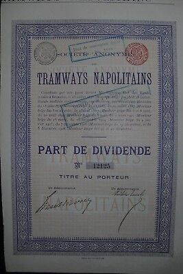 Tramways Napolitains  1908     Italy Neapel
