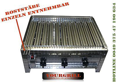 Wow Rost Gasgrill 3 Flammig Grill  Bräter  Tischgrill Edelstahl Von Yourgrill