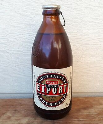 Old Unopened Embossed Westend Larger Beer Bottle, Pickaxe -Brewery, Advertising