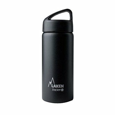 Laken Botella Térmica 500 ml Negra de Acero Inoxidable 18/8 y Doble Pared de ...