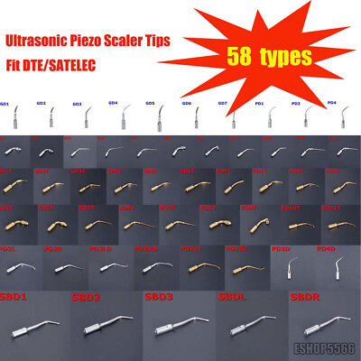 58 Types Dental Ultrasonic Piezo Scaler Tips Fit DTE/SATELEC Handpiece CE