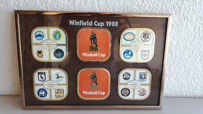 Collectable Framed Winfield Cup 1988 N.S.W NRL Rugby League COASTERS Team Clubs