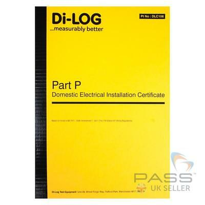 DiLog DLC106 Part P Domestic Installation Certificate - 36 certificates