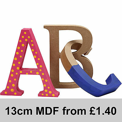 MDF Wood Wooden Letters Numbers Free Standing 13cm high 2cm deep Super Quality
