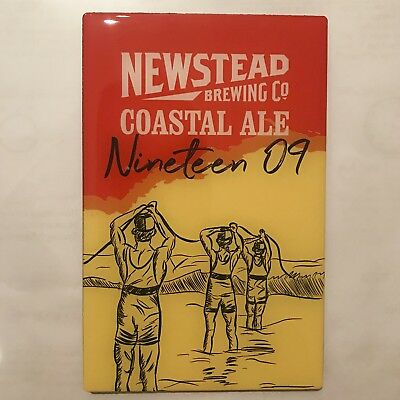 Surf Life Saving Queensland Nineteen 09 Coastal Ale Tap Decal Label