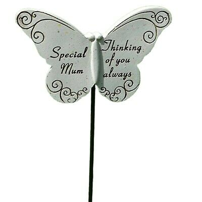 Special Mum Memorial Butterfly Stick Plaque Tribute Spike Graveside Stake Marker