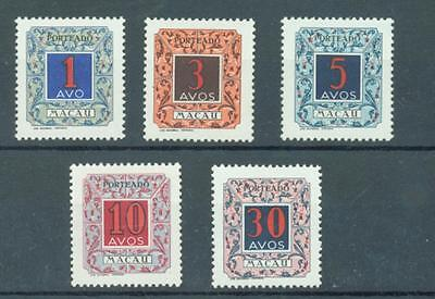 Macao 1950 Postage Dues short set of 5 sg. D451-5 MH