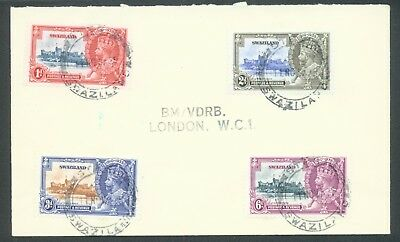 Swaziland 1935 Silver Jubilee set on cover canceeled 11 Nov. 1935 (not FD)