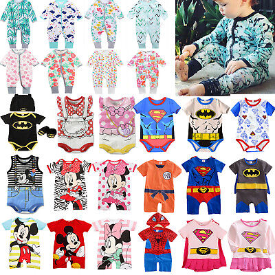 Toddler Baby Boys Girls Disney Marvel Rompers Jumpsuit Playsuit Outfits Pj's Set