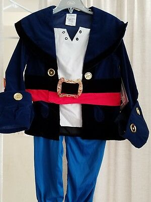Disney Store Jake Costume Size 4 Jake And The Neverland Pirates New with tags