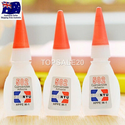 3Pcs 502 Super Glue Instant Cyanoacrylate Adhesive Strong Fast Repair Tool