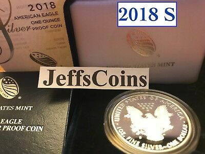 2018 S AMERICAN EAGLE SILVER DOLLAR Proof San Francisco Mint 1oz .999 Coin 18EM