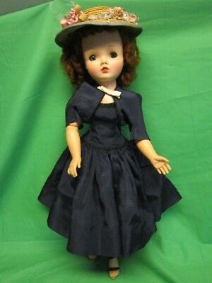 "Vintage Madame Alexander Early ""cissy"" Doll - 20"" In Blue Dress, 1955"