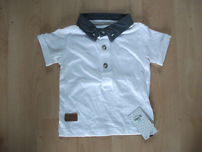 **BNWT Primark White & Grey T Shirt Top Age 9-12 months Great Condition**