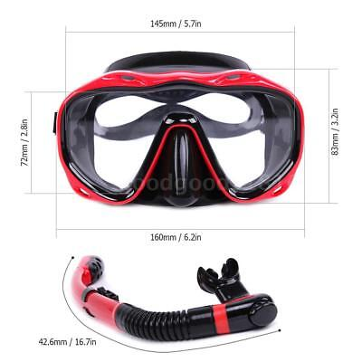 Underwater Full Dry Breathing Tube Diving Goggles Toughened Glass Mask Suit S2I5