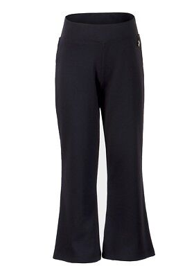 Girls Navy School Trousers Elasticated Waist Pull On Stretchy Bottoms Pants4-15y