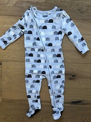 Cotton On Baby Zippy Growsuit Size 12-18 Months
