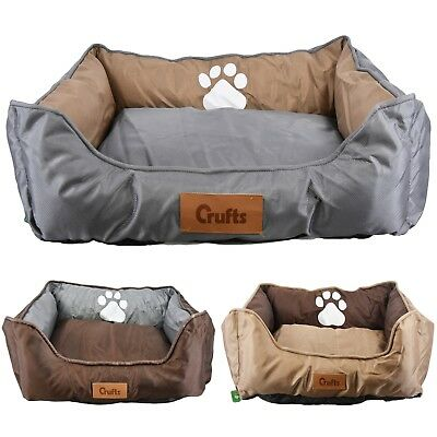 Crufts Waterproof Padded Pet Bed Dog Cat Mat Cushion Mattress Washable Pillow