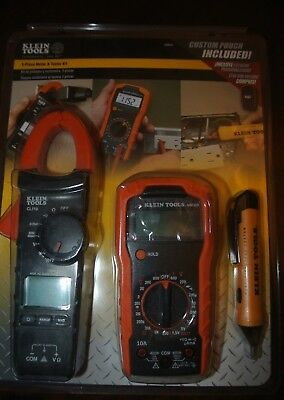 Klein Tools 3-Piece Meter & Tester Kit Z00035 - new MM300, CL110, NCVT-1, pouch