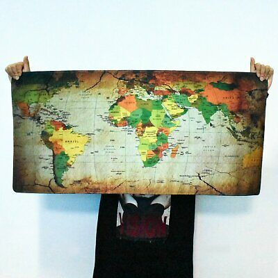 900*400mm World Map Gaming Mouse Pad Mat Large XXL For Laptop Keyboard Desk Mat