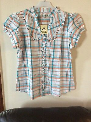 Joblot 3 X Tommy&kate Checked Blouse/top, Size16