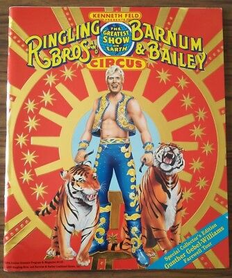 Programme RINGLING AND BARNUM BROS & BAILEY CIRCUS 1989 Red Unit 1ere edit