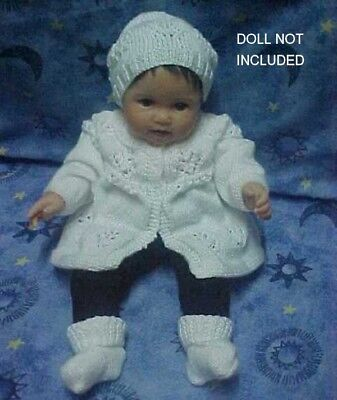 Hand Knitted Matinee Jacket, Beanie And Sockettes